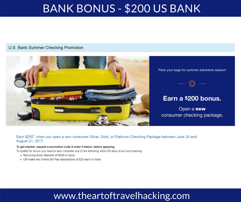 $200 Bank Bonus – US Bank